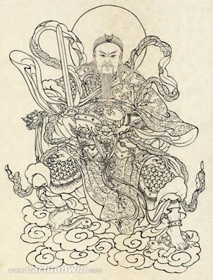 道家阴符派博客--符咒的秘密:解析明代道人刘渊然的玉虚师相玄天上帝受天明命剪伐魔精镇天宝符--真形 4